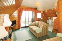 interior of self  catering holiday lodge pickeing